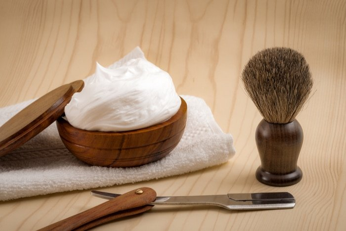 Man shaving products