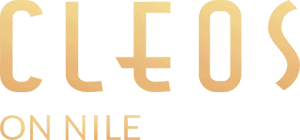 cleos on Nile gold color logo