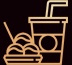 In house beverages and snacks icon