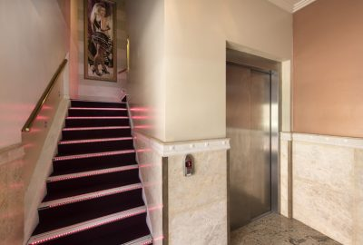 Cleos on nile elevator area and stairs