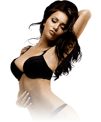alluring international excort lady wearing a sexy black lingerie